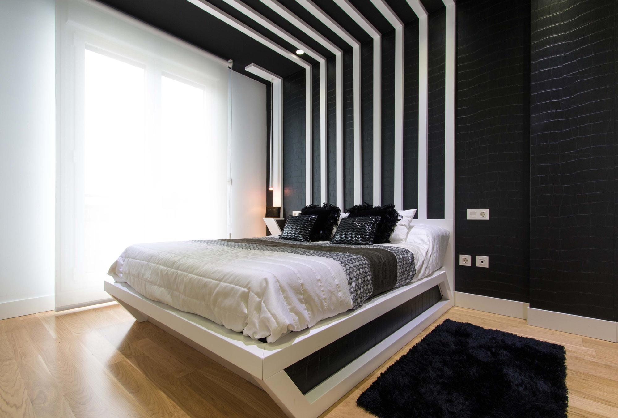 Adosado estilo n rdico interdecor bilbao - Dormitorios blanco y negro ...